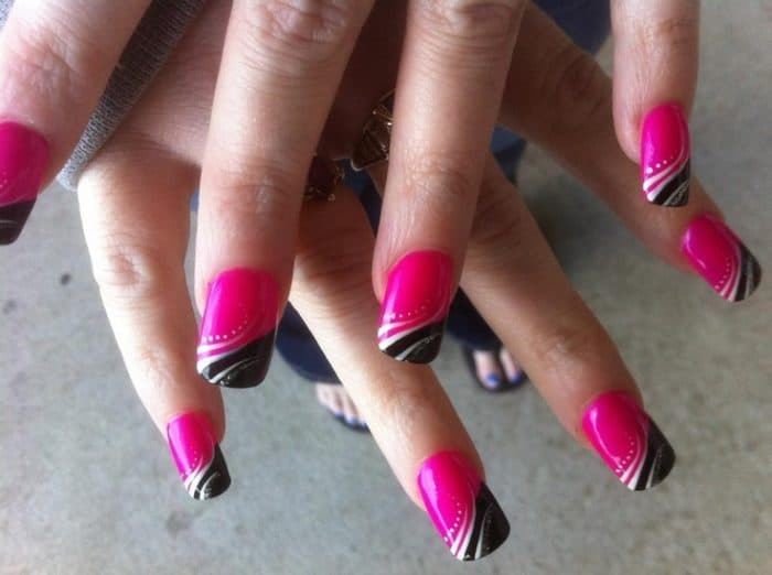 Hot pink and black nail designs choice image nail art and nail black and hot pink nail designs gallery nail art and nail design 20 cute hot pink prinsesfo Image collections