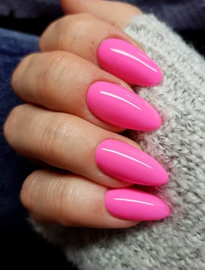 32 Cute Hot Pink Nail Designs Pictures to Try (2020 ...