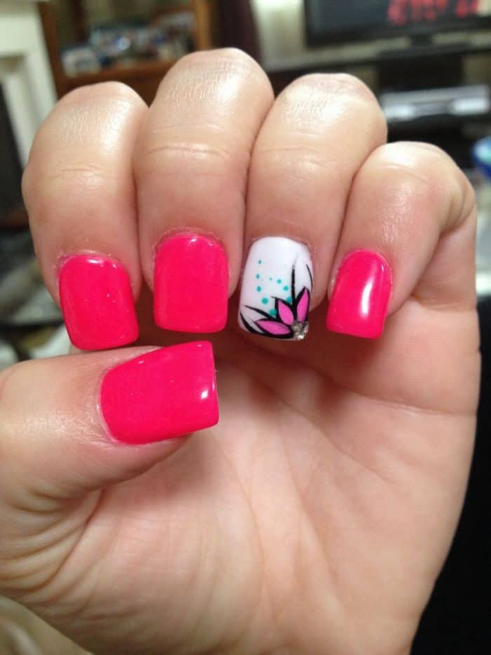 20 cute hot pink nail designs pictures sheideas hot pink glitter nails art images prinsesfo Images