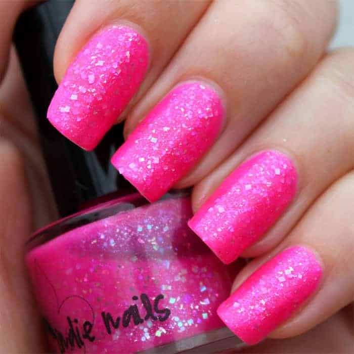 Hot Nail Designs: 32 Cute Hot Pink Nail Designs Pictures To Try [2019
