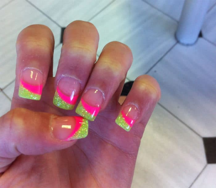 Hot Pink and Lime Green Nail Designs - 32 Cute Hot Pink Nail Designs Pictures To Try [2019] – SheIdeas