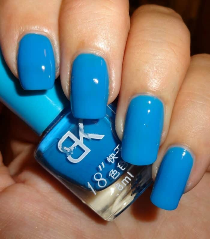 Neon Blue Nail Polish: 32 Cute Gel Nail Polish Designs For Ladies