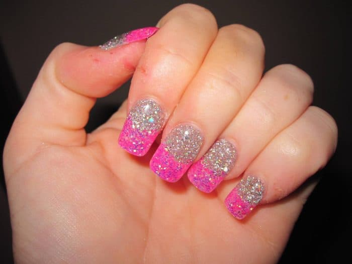 20 cute hot pink nail designs pictures sheideas outstanding pink and silver nails designs hot pink nail designs prinsesfo Images