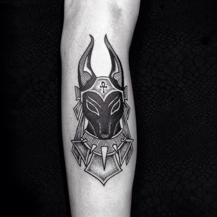 Black Anubis Forearm Tattoo Design Images - SheIdeas
