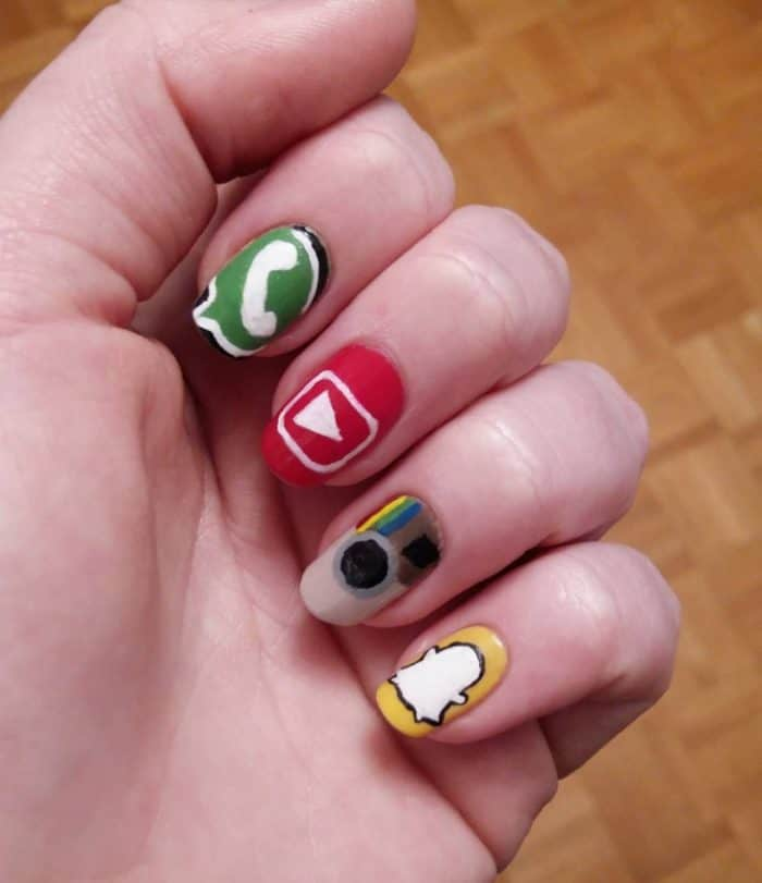 New Social Media App Nail Designs for Girls - SheIdeas