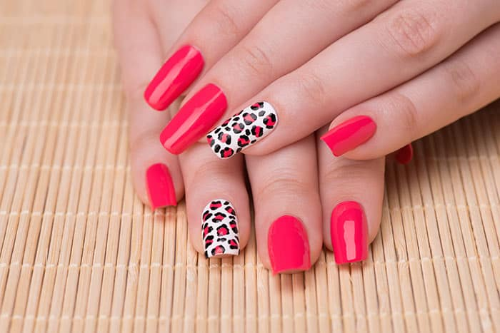 Animal Print Nails Art