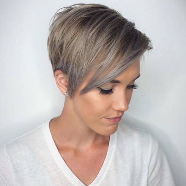 pixie cut with colors