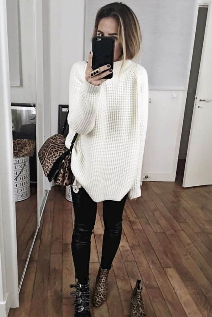 25 Stunning Sweater Dress Outfit Ideas - SheIdeas