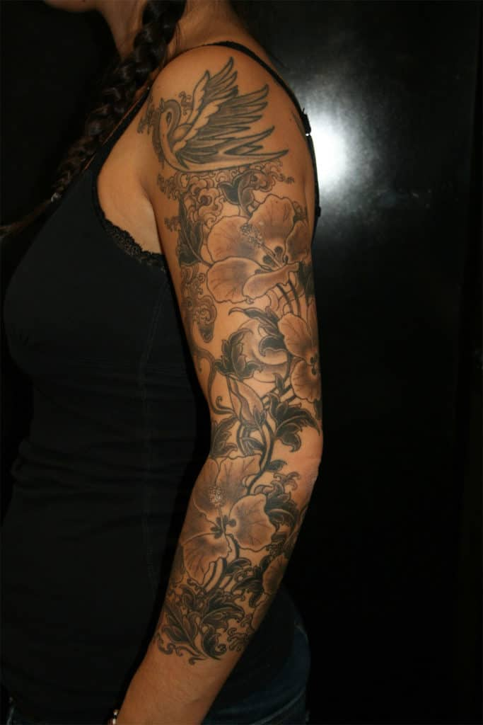 17 Awesome Full Sleeve Tattoo Designs for Females - SheIdeas