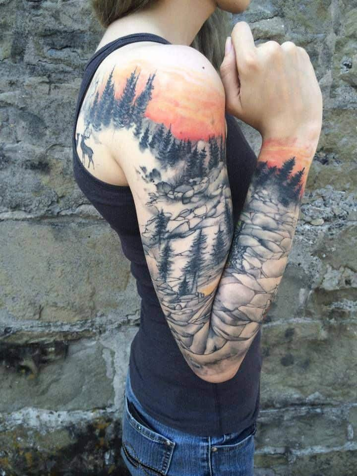 Long Sleeve Tattoo Sleeve For Black Men: 17 Awesome Full Sleeve Tattoo Designs For Females