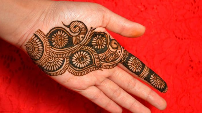 Easy simple beautiful palm henna mehndi designs for hands ... |Simple Henna Palm Designs