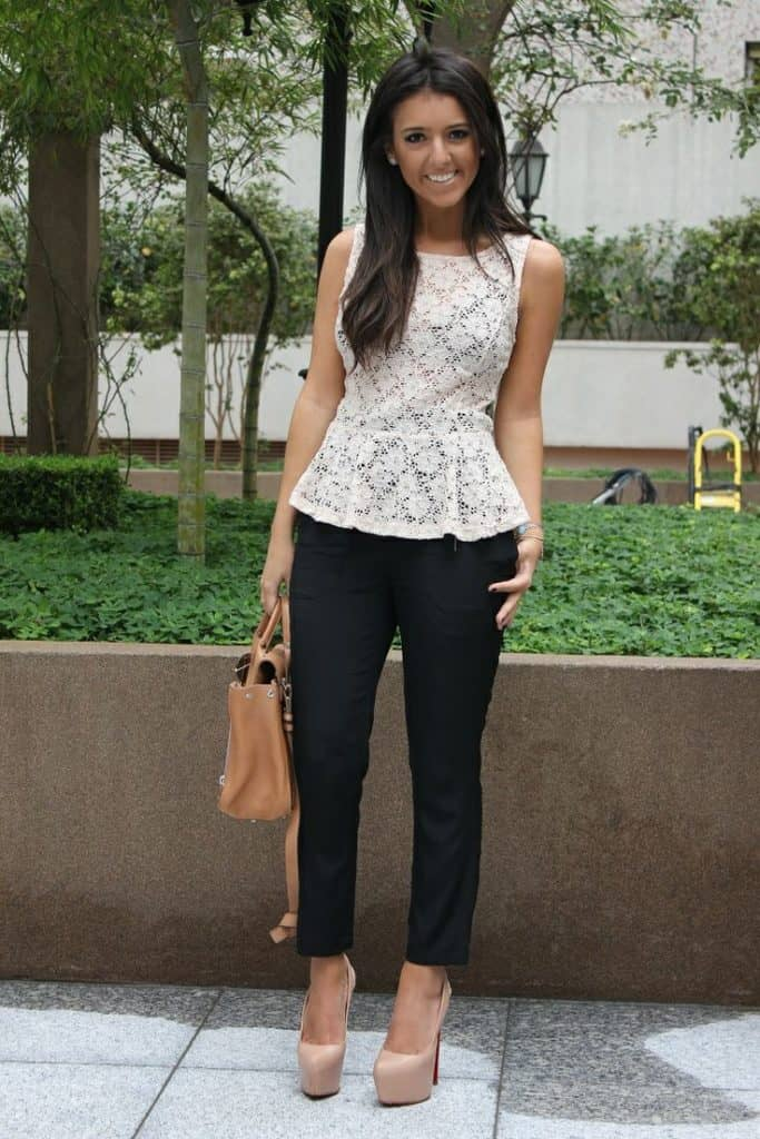 Peplum Top Outfit Ideas