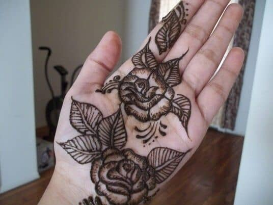 Leg Mehndi Designs Easy Only : Glamorous rose flower mehndi designs sheideas