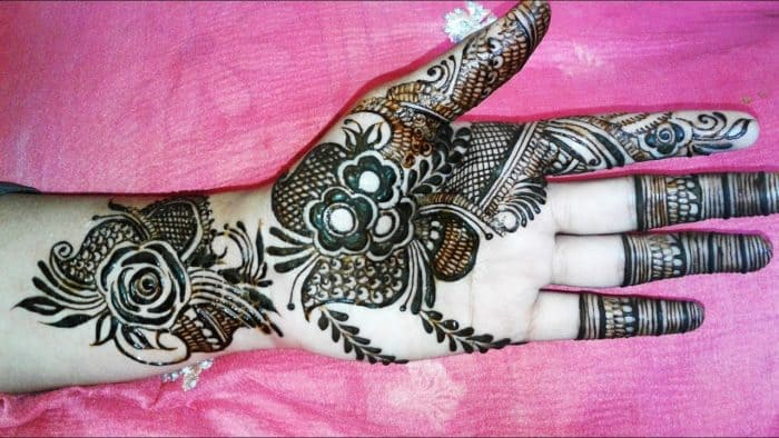 Dubai Mehndi Patterns : Glamorous rose flower mehndi designs sheideas
