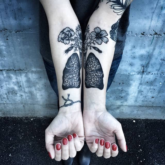 Lung Tattoo Designs