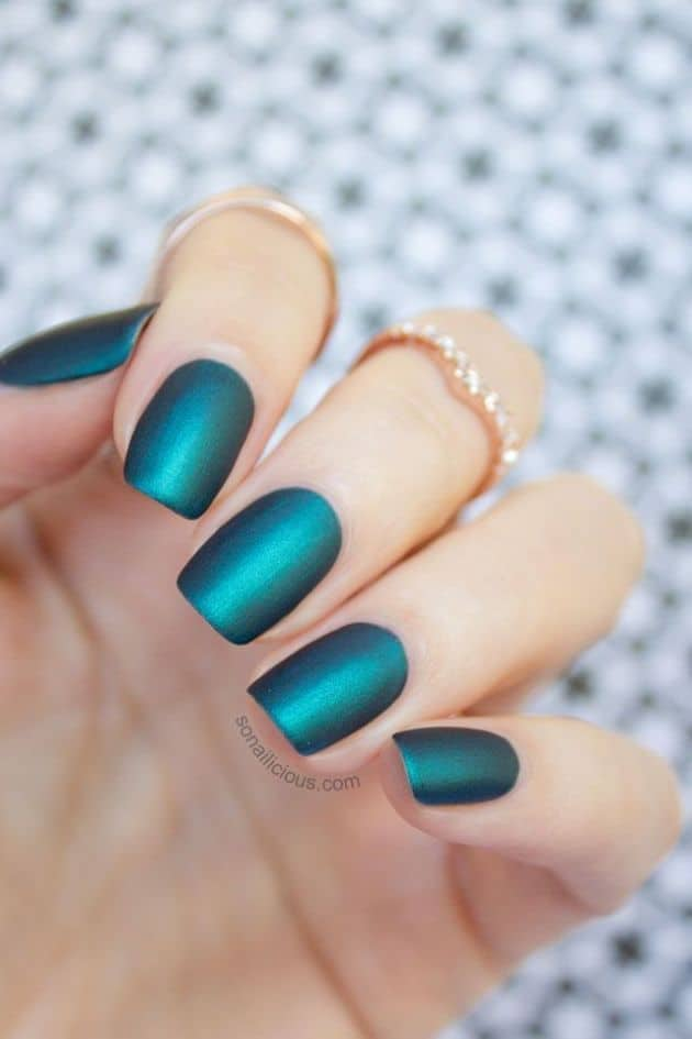 30 Impressive Teal Nail Art Designs for 2018 - SheIdeas