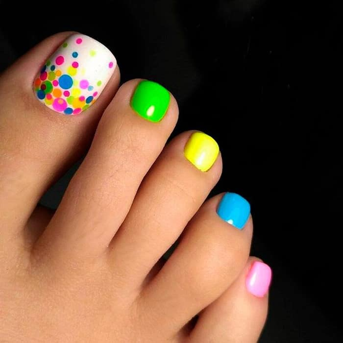 30 majestic fall toe nail designs images for 2018 sheideas colorful best toe nail art prinsesfo Choice Image