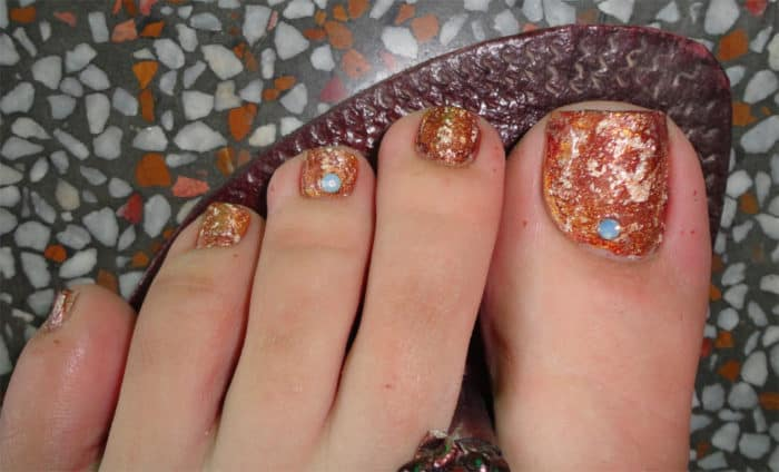 Easy Fall Toe Nail Art Trend - 30 Majestic Fall Toe Nail Designs Images For 2018 – SheIdeas