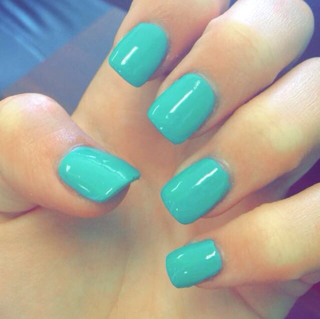 Easy Teal Nail Designs for Girls 2018 - Easy Teal Nail Designs For Girls 2018 - SheIdeas
