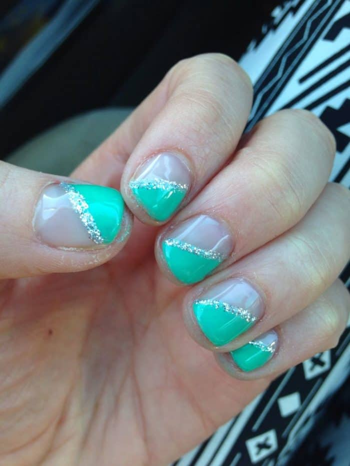 Teal Nail Art Designs