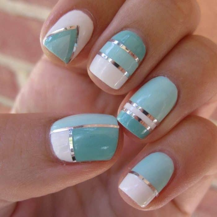 Teal Nails Design for Girls - 30 Impressive Teal Nail Art Designs For 2018 – SheIdeas