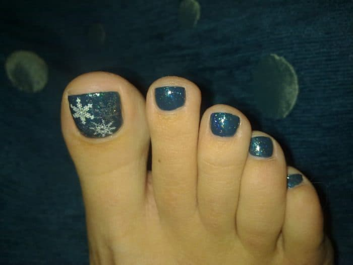 Toe Nail Designs for Winter - Toe Nail Designs For Winter - SheIdeas