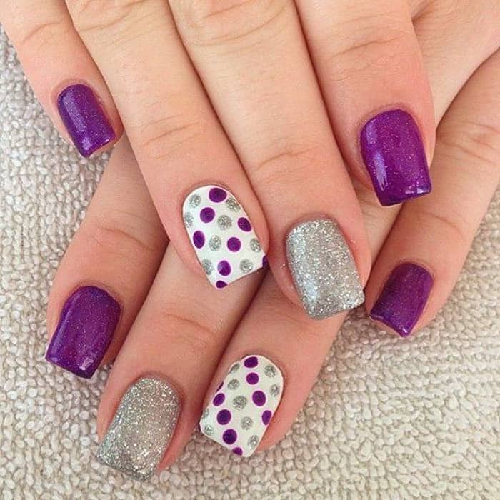 dotted nail art designs