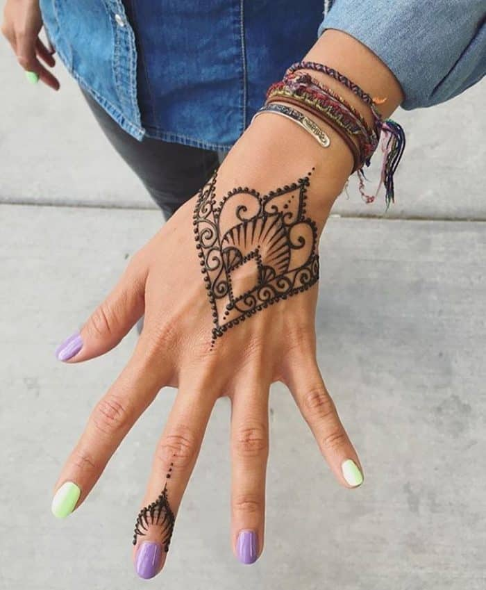 Henna Mehndi Tattoo Designs Idea For Wrist: 30 Stylish Summer Henna Tattoo Designs 2019