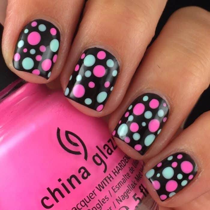 30 Beautiful Dotted Nail Art Designs Examples