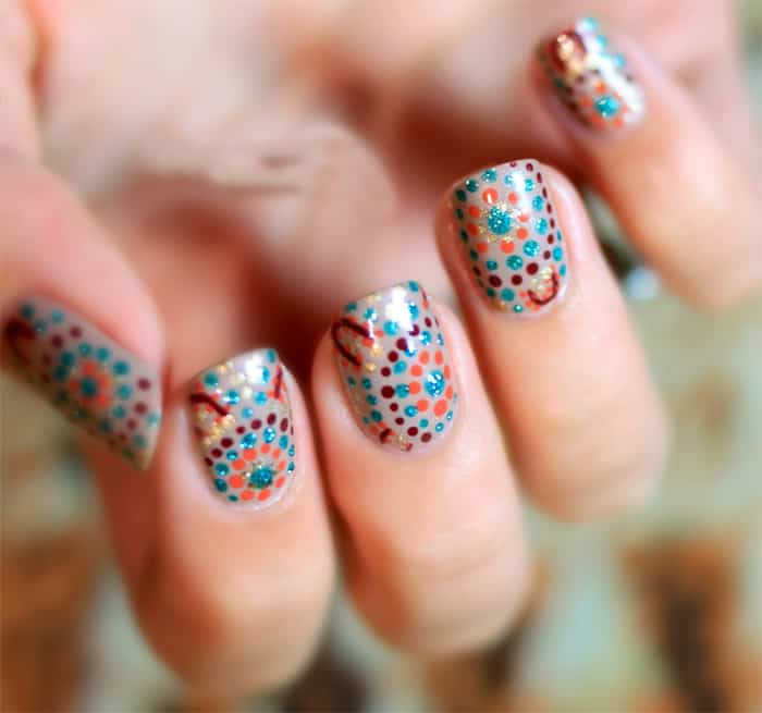 30 Beautiful Dotted Nail Art Designs Examples Sheideas