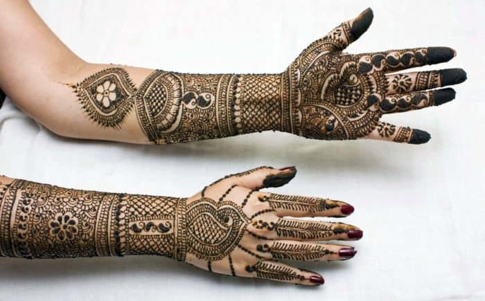 full hand mehndi design photos