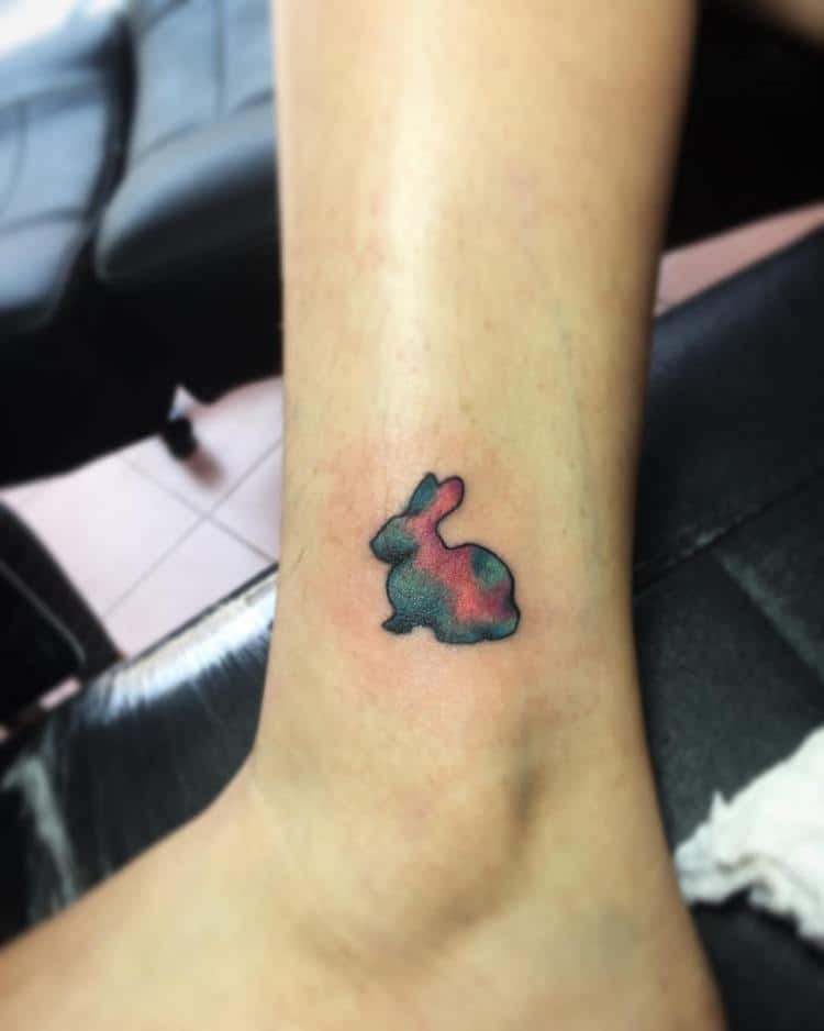 22 stunning easter bunny tattoo ideas sheideas for Small bunny tattoo