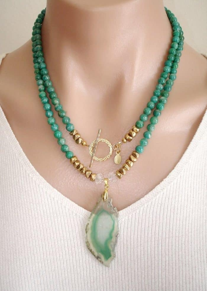 20 Stylish Gemstone Necklace Design Ideas - SheIdeas