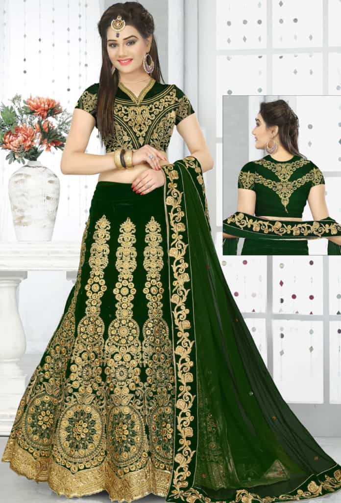 9235ca96cb973 30 Latest Lehenga Blouse Designs Images 2019 – SheIdeas