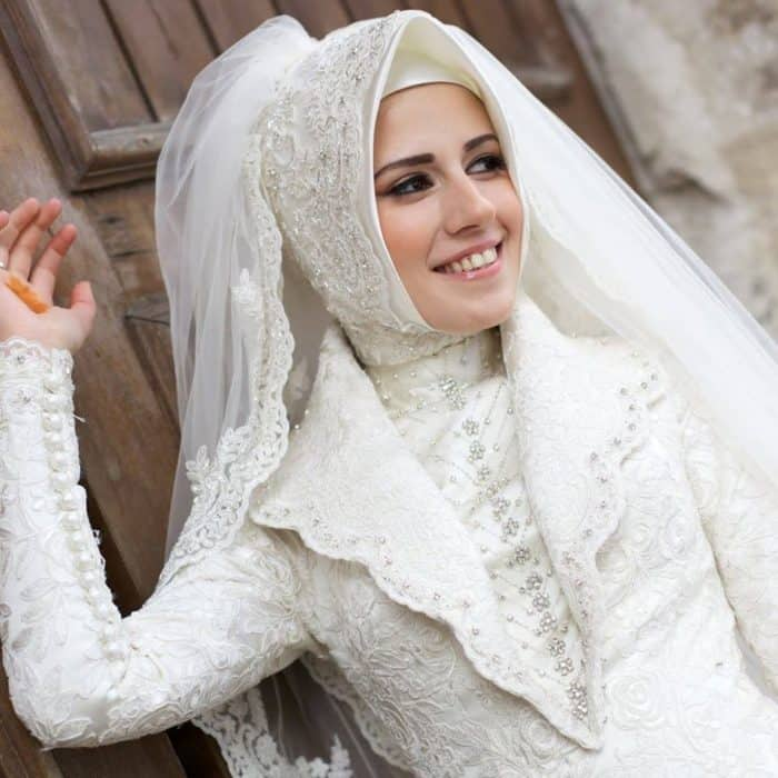 bridal hijab designs