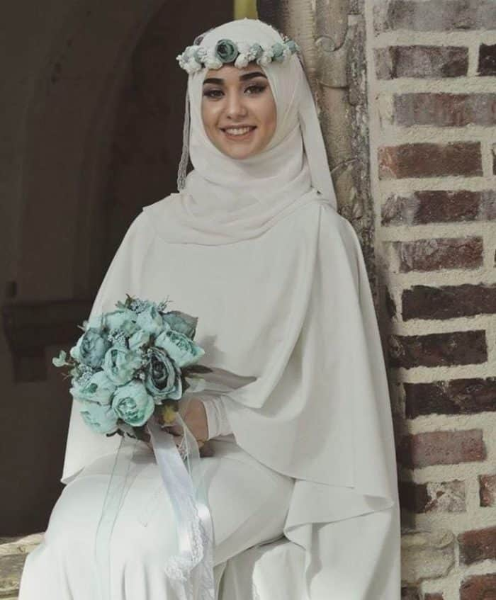 Hair Style With Hijabfor Wedding: 25 Beautiful Bridal Hijab Designs For Wedding