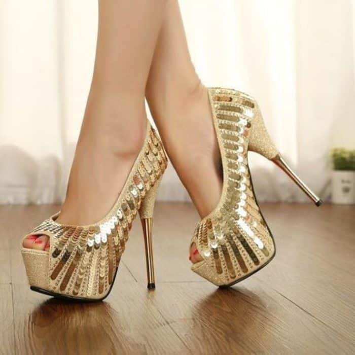 Ladies Pencil Heel Shoes
