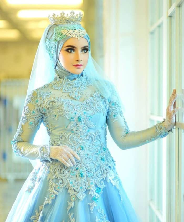 Muslim Wedding Gown Pictures: 25 Beautiful Bridal Hijab Designs For Wedding