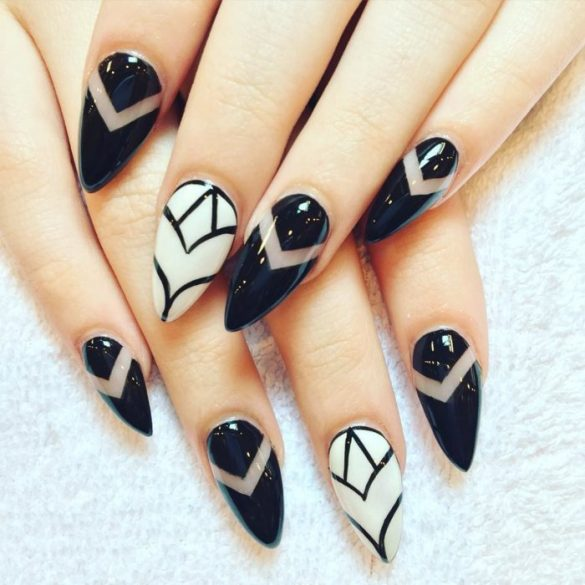 25 Fantastic Almond Shaped Nail Ideas for Girls