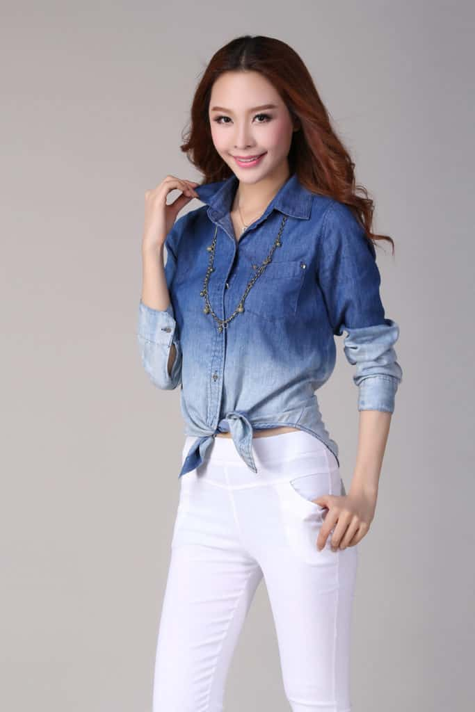 Ladies Jeans Top Design