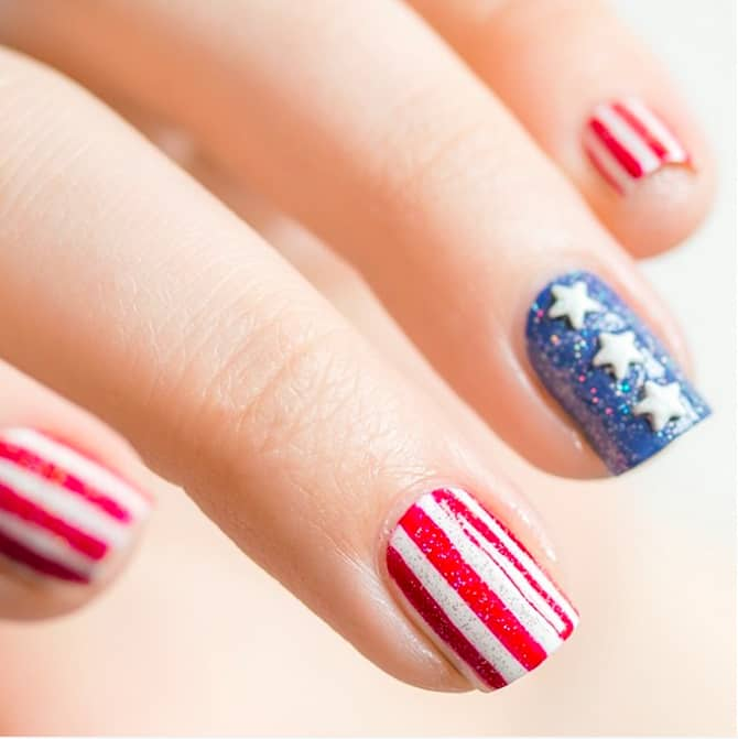 Patriotic Nail Art Designs