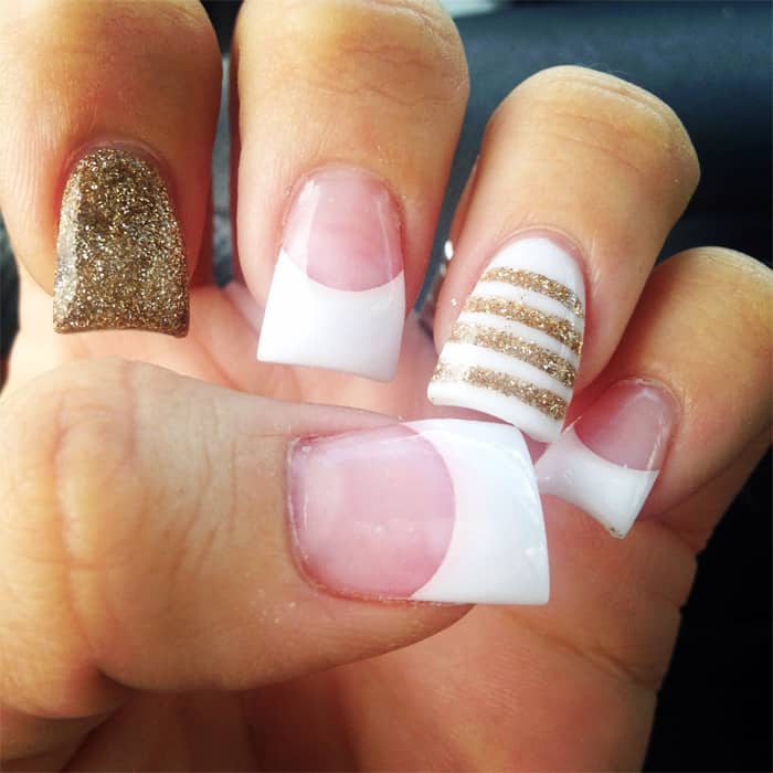 Gold For Prom Nail Ideas: 27 Stunning Prom Nail Art Designs Pictures