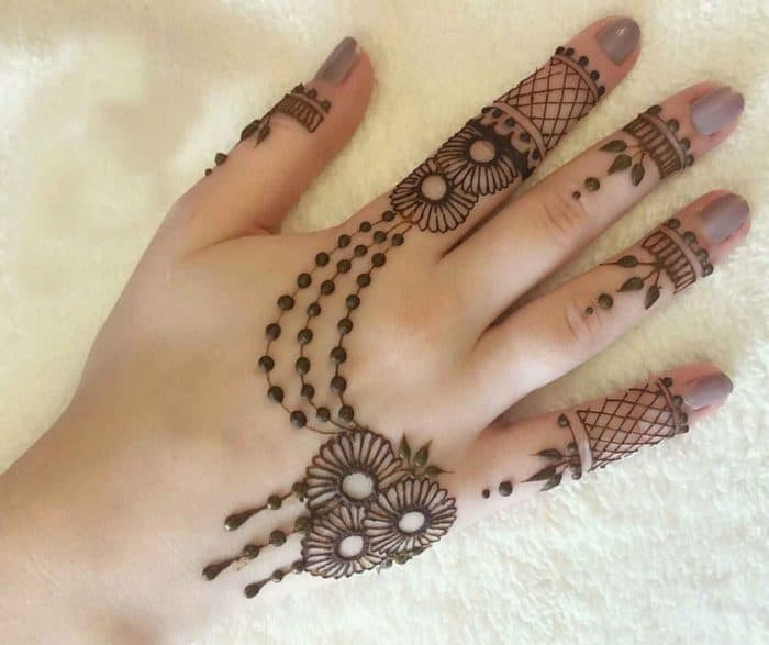 25 Simple Back Hand Mehndi Designs 2019 \u2013 SheIdeas