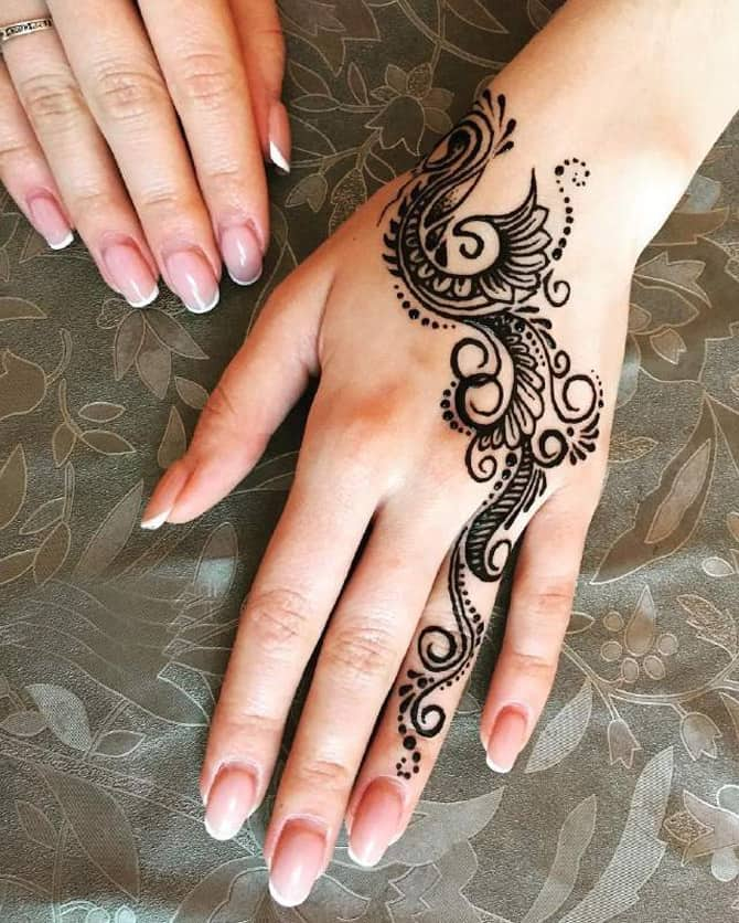 25 Simple Back Hand Mehndi Designs 2019
