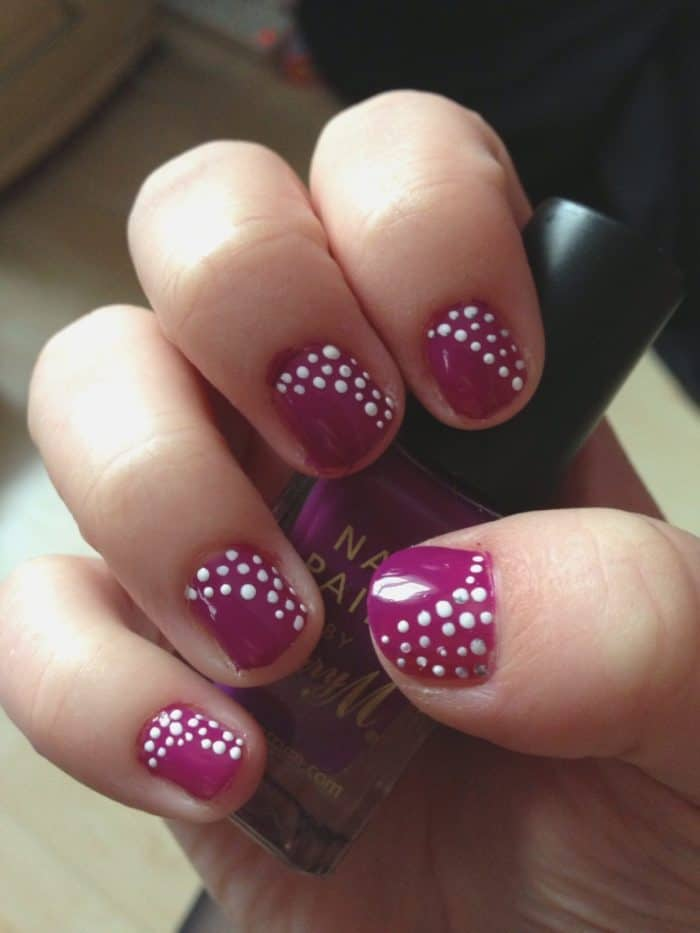 easy nail art pen design ideas - SheIdeas