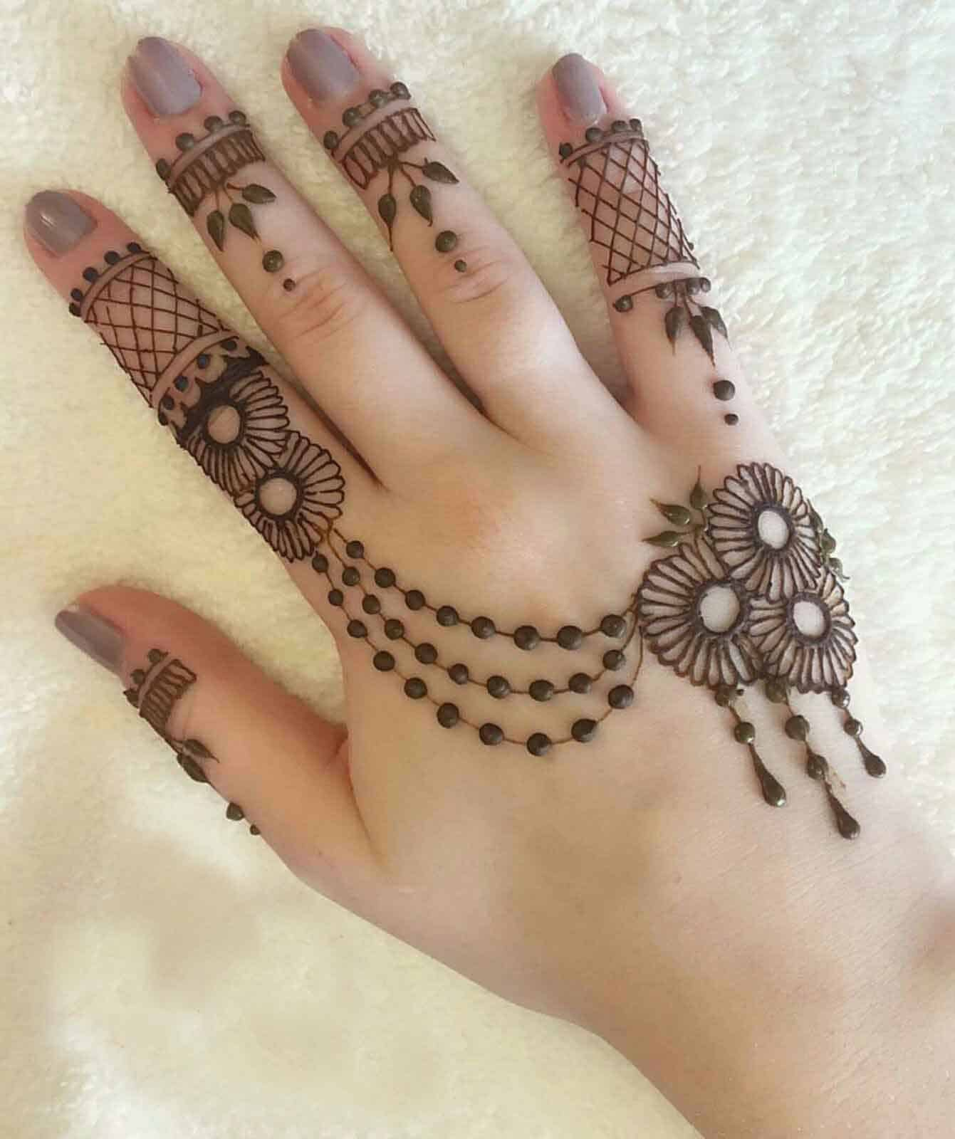 30 Latest Simple Indian Mehndi Designs Images