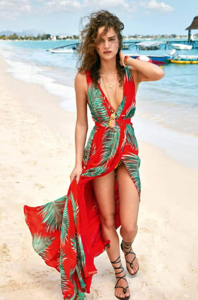7fa02e6f68c Red Long Summer Beach Attire Designs. Beach Theme Party Outfit Ideas