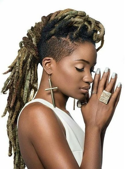 funky 27 piece dreadlock mohawk hairstyles