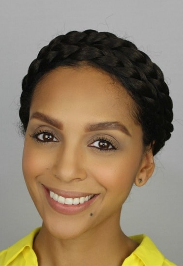 milkmaid braid to rock biracial hair