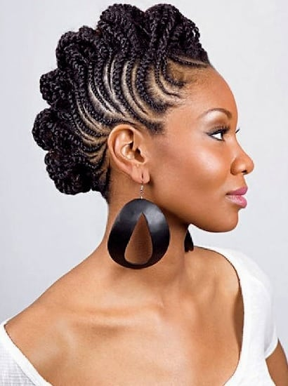 coenrow braid mohawk with weave for black women